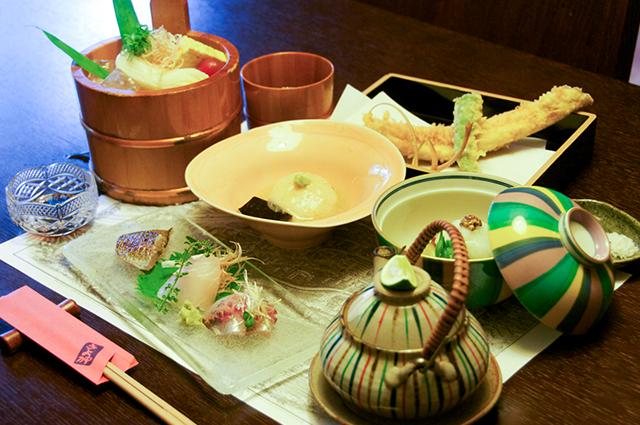 夏の松川会席